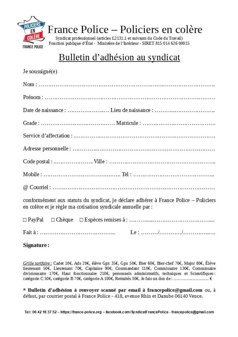 bulletin France Police