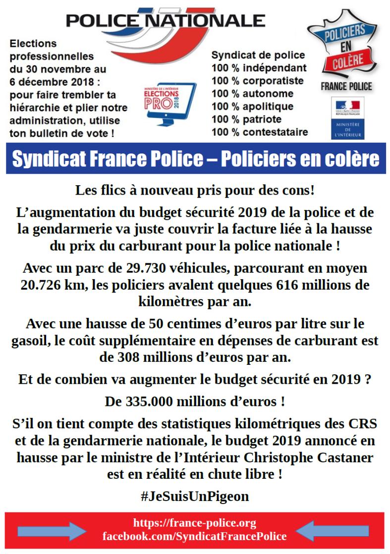 hausse du carburant budget police gendarmerie.png
