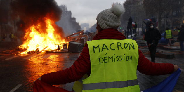 Protest Of Yellow Vests In Paris