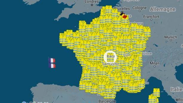 gilets jaunes carte des blocage