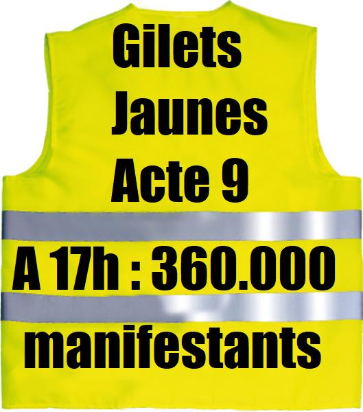 LES LUTTES EN FRANCE vers la restructuration politique (Gilets jaunes) : les débats continués 17 déc.- mars 2019 Gilets-jaunes-acte-9-participation-chiffres-police