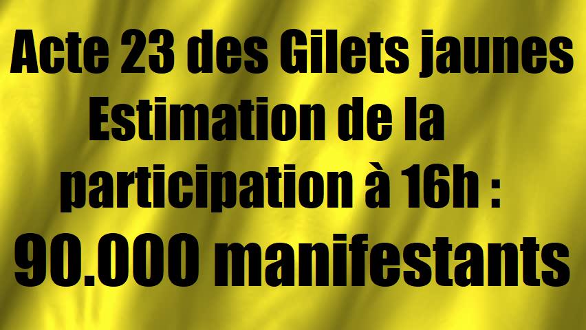 Convergence des luttes. Appel au 5 mai. La Fête à Macron !  - Page 4 Acte-23-estimation-participation-gilets-jaunes-20-avril-2019