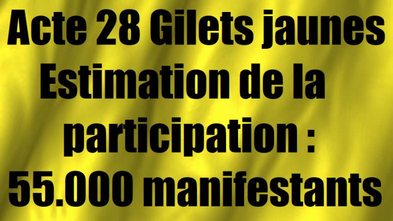 actes 28 des gilets jaunes estimation de la participation manifestation les chiffres.png