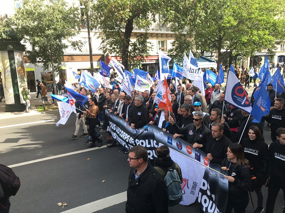 manifestation police 2 octobre 2019 intersyndicale marche de la colère