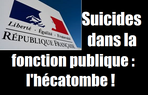 suicides fonction publique police gendarmerie éducation nationale