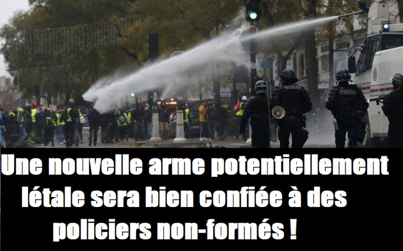 armes police gendarmerie castaner bavures maintien de l'ordre 5 décembre syndicat de police gilets jaunes cgt