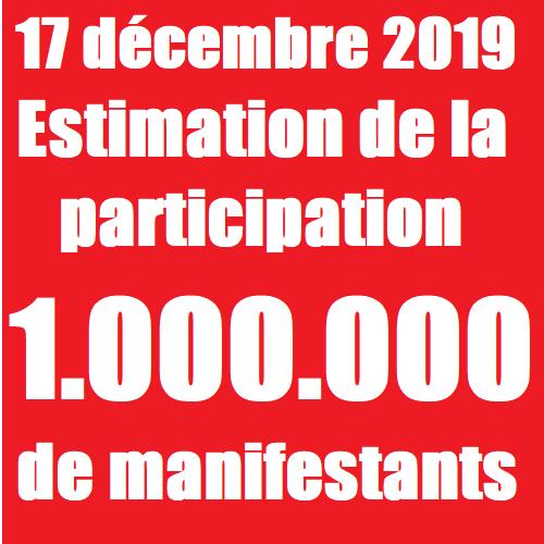 estimation de la participation 17 décembre 2019 manifestations police nationale cgt