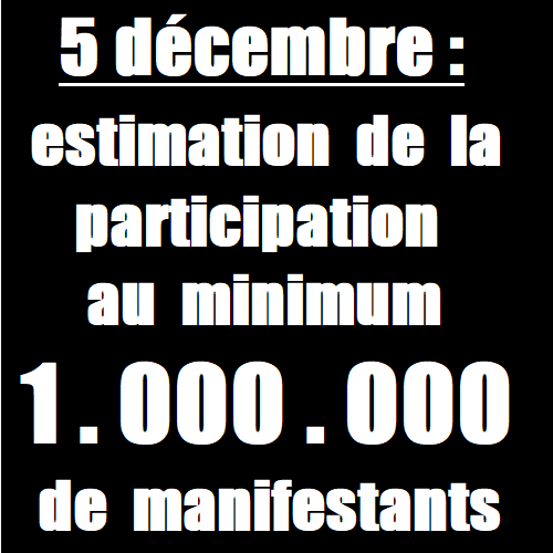 estimation de la participation 5 décembre 2019 manifestation