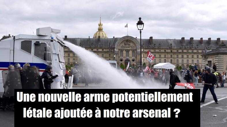 lanceurs d'eau police nationale gendarmerie pompiers 11 bars bavures violences castaner.png