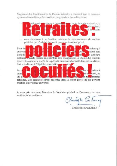 policiers gendarmes pensions de retraite