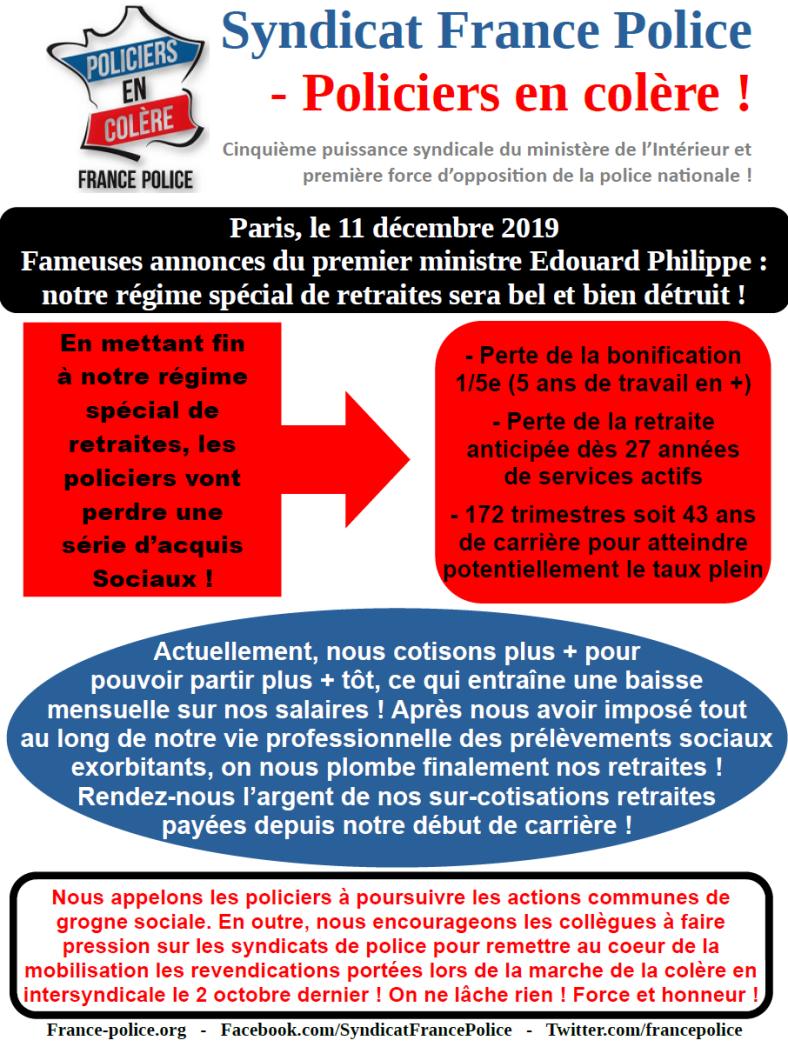tract retraite 11 décembre 2019 annonces edouard philippe