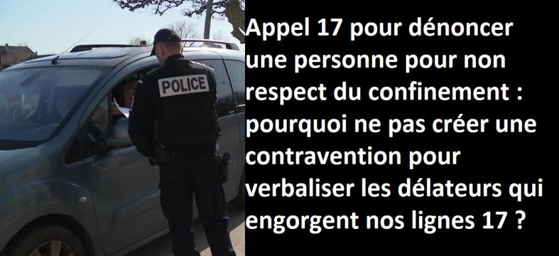 covid 19 dénonciation appel 17 police gendarmerie verbalisation