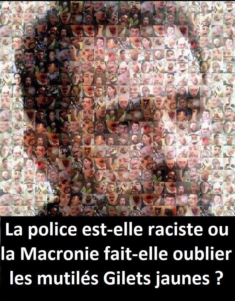 police raciste gilets jaunes mutilés castaner